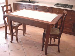 Mobilificio zaniolo tavolo cucina con okite for Tavolo cucina con cassetto